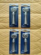 Ceiling Fan Lighthouse 12 Beaded Pull Chain Brushed Nickel 4 Piece. 829