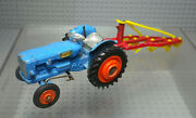 Tractor Fordson Power Junior With Coupling - Miniature Old Corgi Toys 1/43