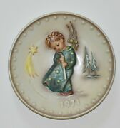1971 Hummel Annual Plate 264 Heavenly Angel In Commemoration 100th Anniversary