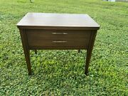 Mid Century Modern Broyhill Saga Nightstand End Table With Drawer Danish 1960andrsquos