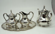 4 Piece Colombian 900 925 Coin Silver Coffee / Tea Service Set Sterling