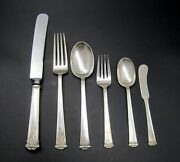Antique 1920and039s Js Co. Sterling Silver Silverware Set Of 6 Peices