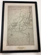 Revolutionary War Map Drawn From Surveys Ordered By George Washington 1804