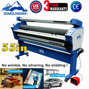 Us 55 Wide Format Cold Laminator Roll To Roll Heat Assist Mounting Machine