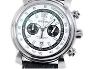 Waltham Fidalgo Chronograph Watch Menand039s Automatic White Dial Stainless Steel