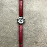 Gerald Genta G.3499.7 Retro Fantasy Mickey Mouse Watch Red White Shell Rare Auth