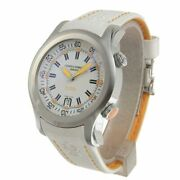 Cuervo Y Sobrinos Men's Watch Automatic White Dial Leather Belt Date 43 Mm
