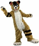 Husky Dog Fox Wolf Mascot Costume Halloween School Game Party Suit Free Shipping