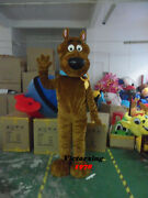 Scooby-doo Brown Dog Mascot Costume Free Shipping