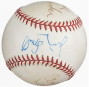 Nypd Blue Cast Multi-signed Baseball.