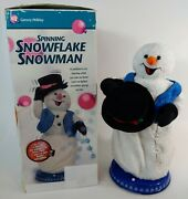 Gemmy Snowflake Spinning Snowman Animated Singing Dancing Snow Miser Workd Great