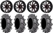 Fuel Runner 20 Wheels Red 33 Bkt At 171 Tires Polaris Rzr Turbo S / Rs1