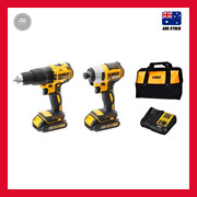 2 Piece Dewalt Xr 18v Brushless Cordless Combo Kit Hammer Drill And Impact Driver