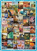 Vintage Travel Posters 502 Piece Wooden Jigsaw Puzzle