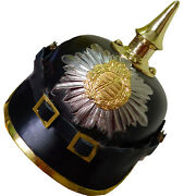 Wwi German Pickelhaube Prussian Leather Helmet Officer Militaria Collectible