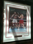 Muhammad Ali V George Foreman Framed 1974 Rumble In The Jungle Signed Photo