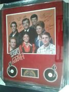 Happy Days Cast Signed 7 16 X 20 Color Print Custom Framed With C.o.a.
