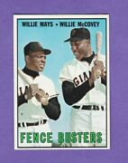 1967 Topps Willie Mays Willie Mccovey 423 Nr-mt