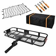 Usserenay Hitch Cargo Carrier - Trailer Hitch Luggage Rack With Net Waterproof