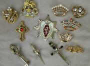 Estate Crowns Swords Jewelry Lot Rhinestones Mixed Ages