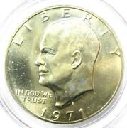1971-s Eisenhower Silver Ike Dollar 1 Coin - Certified Pcgs Ms67 - 385 Value