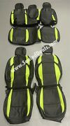 Custom Leather Seat Covers Black And Screaming Green For Jeep Wrangler Jl Jlu