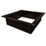 """36"""" Id And 42"""" Od Outdoor Heavy Duty 2 Mm Steel Square Fire Pit Ring Insert"""