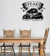 Wall Vinyl Decal Logo For Grilling Barbecue Steak House Cafe Sticker N1490