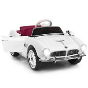 Outdoor 12v Bmw 507 Licensed Electric Kids Ride On Retro Car Rc W/music And Lights