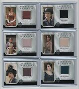 Downton Abbey Seasons 1 And 2 Single And Dual Wardrobe Card Insert Set - 11 Cards