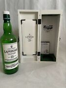 Collectible Laphroaig 25 Year Old Whisky 2017 70cl Bottle In Wooden Gift Box