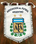 Argentina Afa Soccer Pennant Official 2004 Olympic Games, Athens. Matchworn.