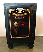 Heavy Iron Late 19th Century Antique Victor Safe And Lock Co. Safe C. 1890s