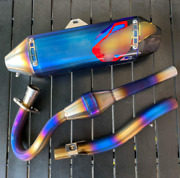 Exhaust Systems Full Titanium Pipe Silver Motorcycle Parts Yamaha Wr155r
