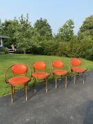 Mid Century Thonet Bentwood Dining Chairs Set 4