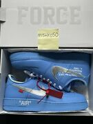 Nike Air Force 1 Low Andlsquo07 Off-white Mca University Blue Chicago Off White Sz 13🔥