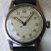 Mens Military Wwii Era Vintage H.moser And Cie Wristwatch Good Condition