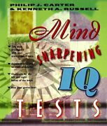 Mind-sharpening Iq Tests By Philip J. Carter And Kenneth A. Russell Brand New