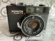 Konica Auto S3 Black Film Camera Claand039d Fully Functional Ex+ New Light Seal