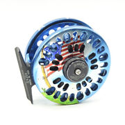 Abel Super 4 Fly Fishing Reel. Custom Old Glory Finish. Made In Usa.