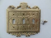 Virginia Metalcrafters Vmc 24-26 Triple 3 Switch Plate Brass Light Receptacle