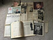 Homemade Scrapbook And Newspapers Articles Of Jfk And Lbj