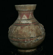 12.4 Old Chinese Painting Ceramics Han Dynasty Dragon Beast Bottle Tank Pot