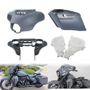 Inner Outer Batwing Fairing Saddlebags Speakers Cover Fit For Harley Flhx 14-21