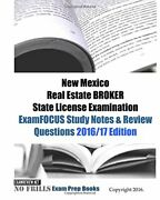 New Mexico Real Estate Broker State License Examination By Examreview Brand New