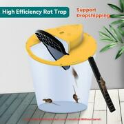 Reusable Clamshell Mouse Trap Automatically Reset Plastic In/outdoor Slide Bucke