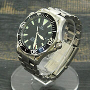 Omega Seamaster Professional S. Steel 2264.5 Quartz Menand039s Watch 10 Rise-on