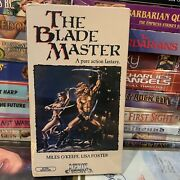 The Blade Master Vhs 1982 Factory Sealed Miles O'keefe Lisa Foster Holy Grail