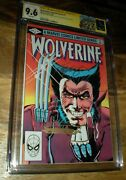 Wolverine 1 Cgc Ss 9.6 Chris Claremont Frank Miller Signed 1st Solo Logan Story