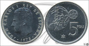 Spain - Coins King Circulation- Year 1980 - Number 00388a - 5 Ptas. 1975 80